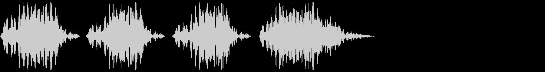 サッカーのホイッスル、警笛(ファウル2)の未再生の波形