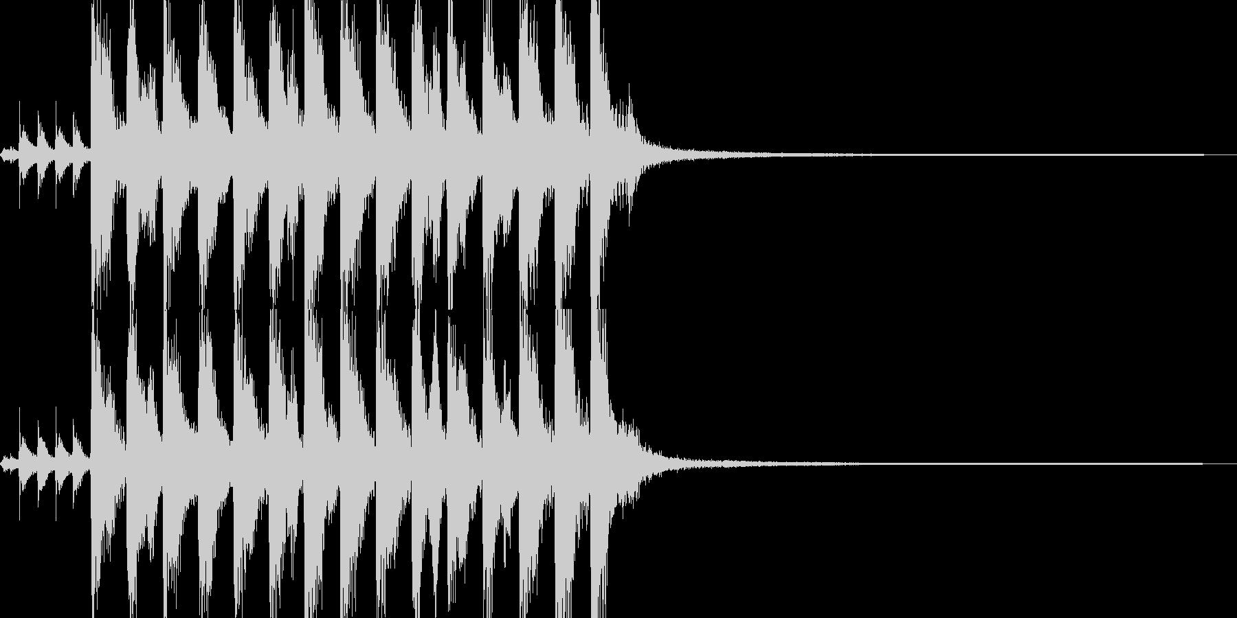 そそくさと展開するポップスジングルの未再生の波形