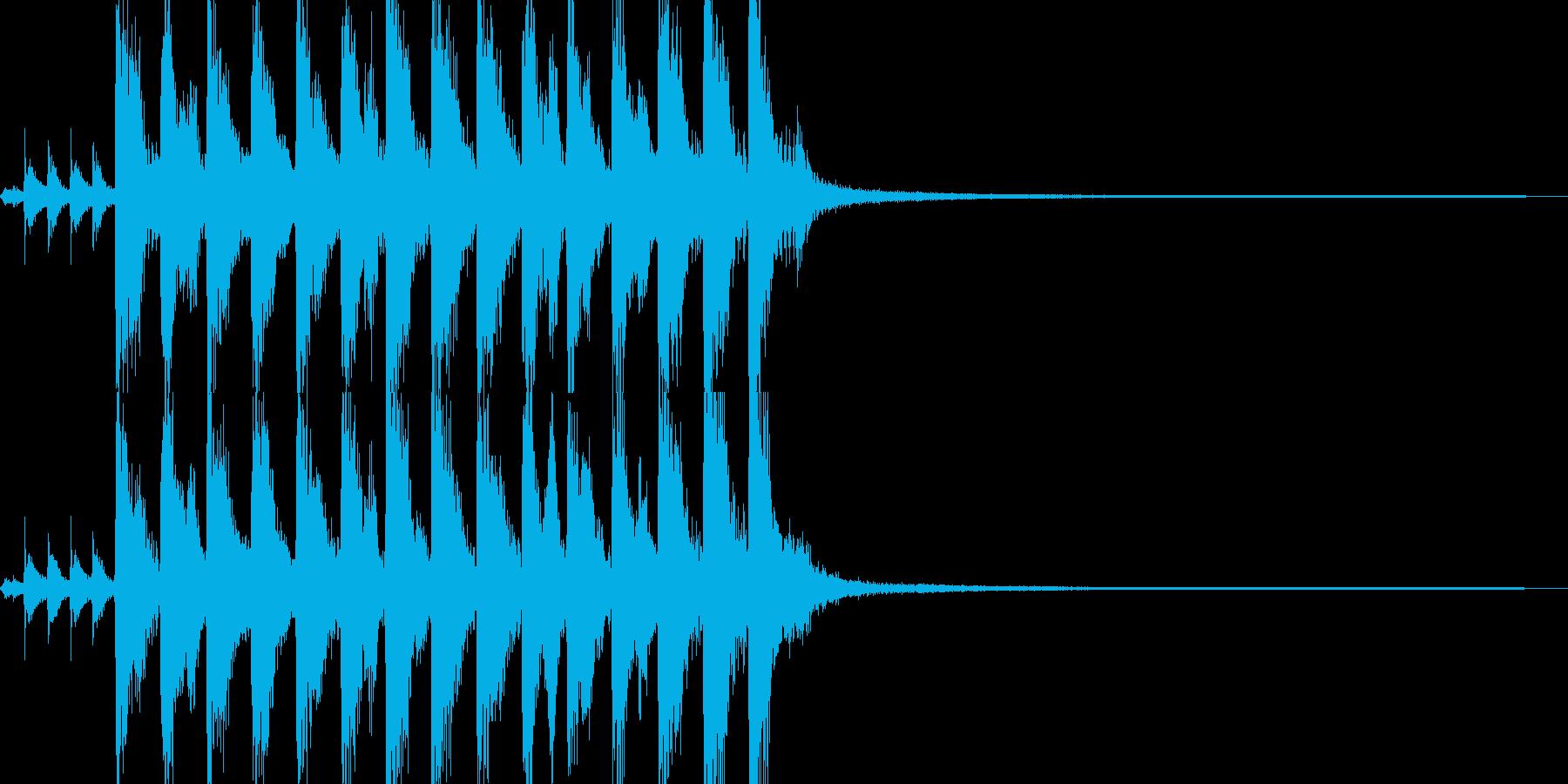 そそくさと展開するポップスジングルの再生済みの波形