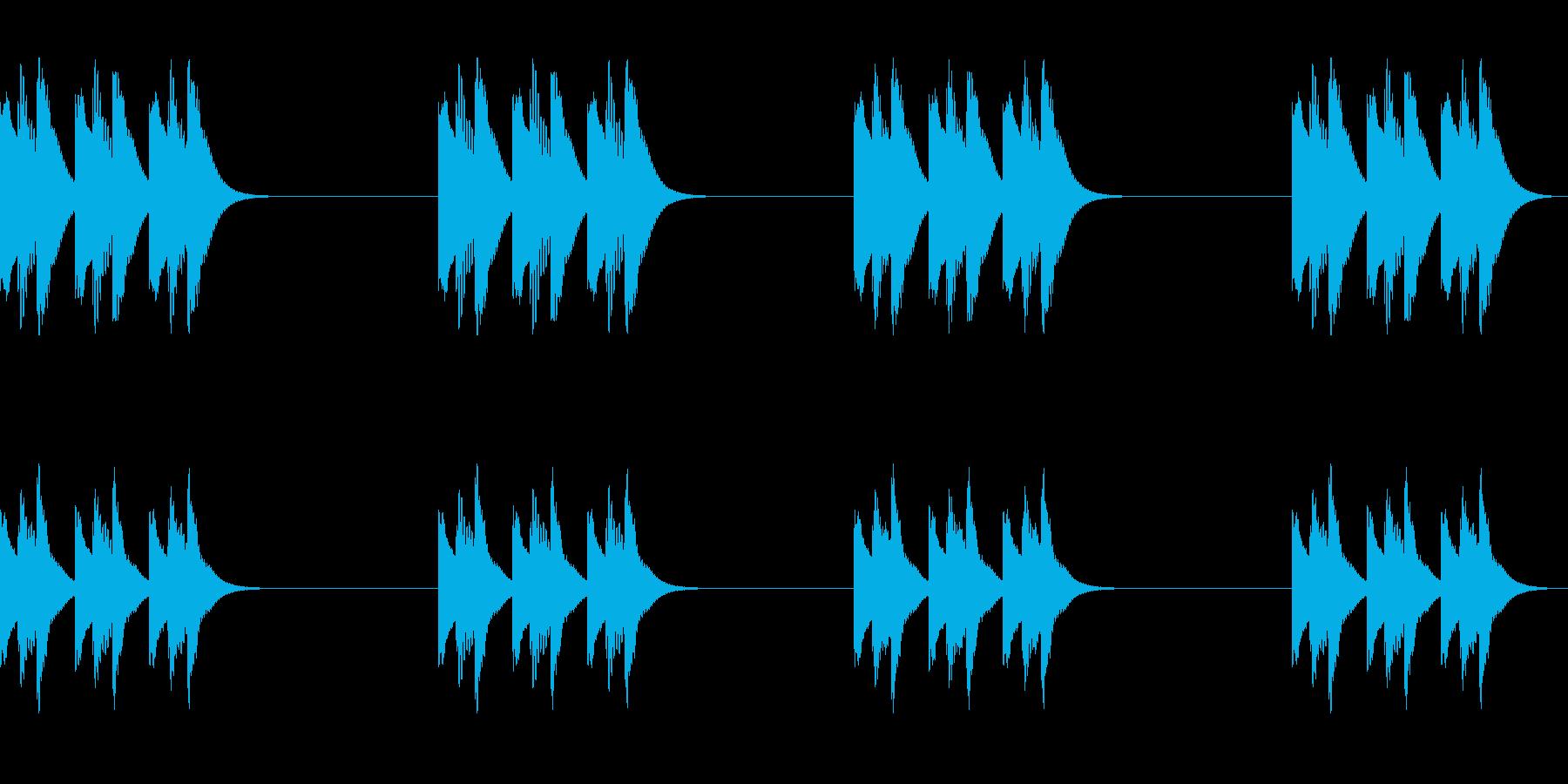 木琴ジングル、ほのぼのアニメ系の再生済みの波形