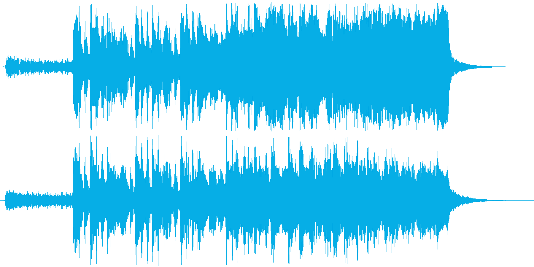 冒険への旅立ちのミュージックの再生済みの波形