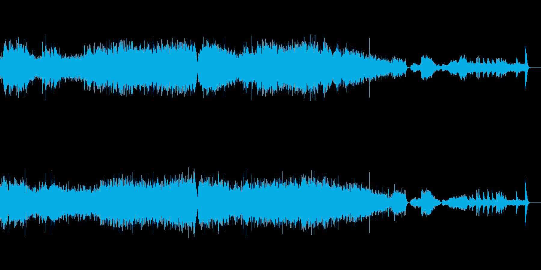 迫り来るドラマティックなクラシック音楽の再生済みの波形