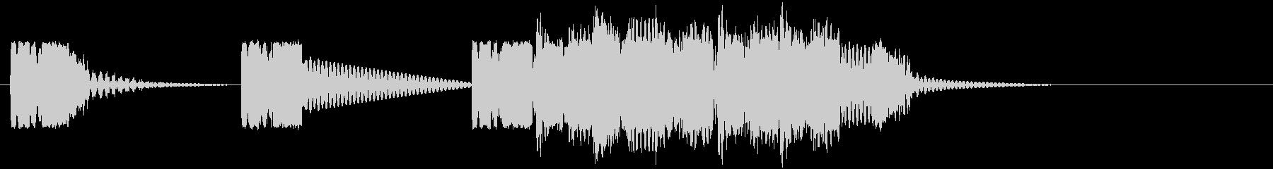 ロボットサウンド 機械音3の未再生の波形