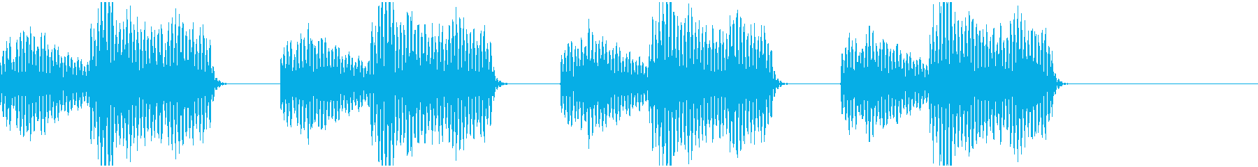 警告音01の再生済みの波形