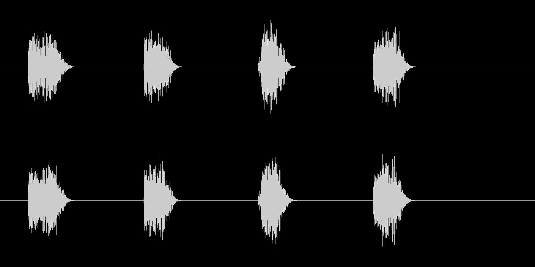 ロボットボイスのカウントダウン 3210の未再生の波形