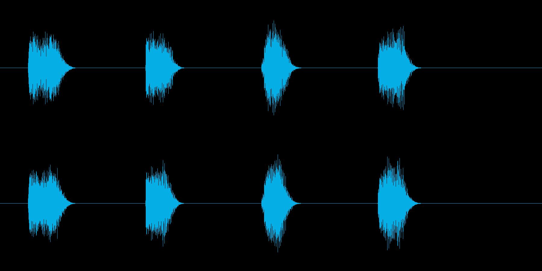 ロボットボイスのカウントダウン 3210の再生済みの波形