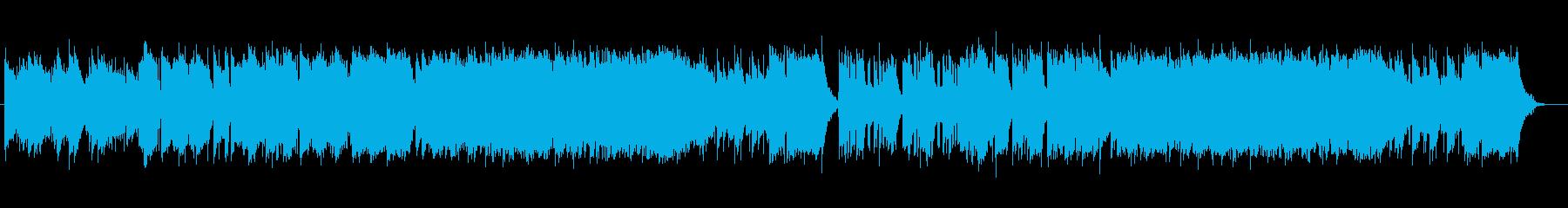 ゆったりとしたシンセバラードの再生済みの波形
