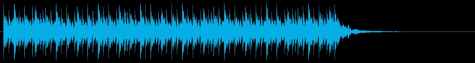 爽快でポップなEDMジングルの再生済みの波形
