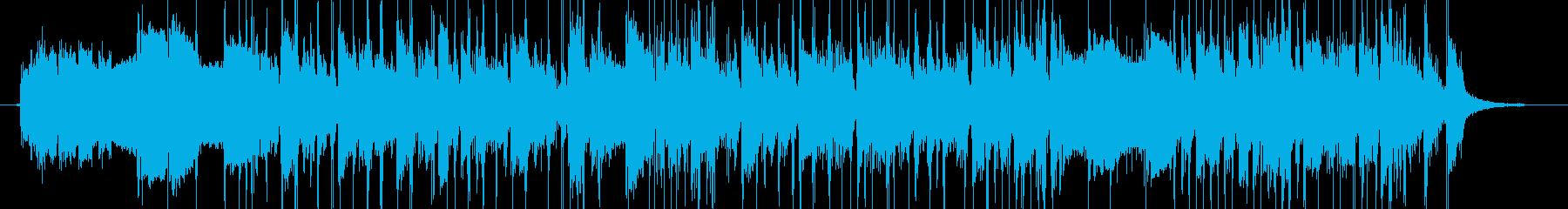 シンセ&スラップベースのジングルの再生済みの波形