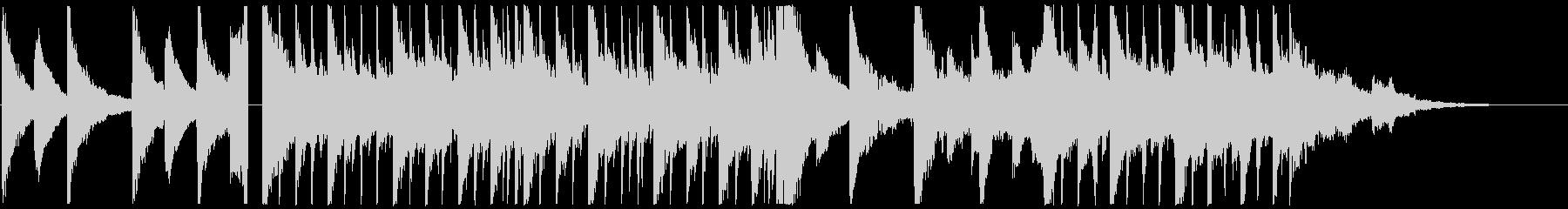ピアノメインの優しいスローエレクトロニカの未再生の波形