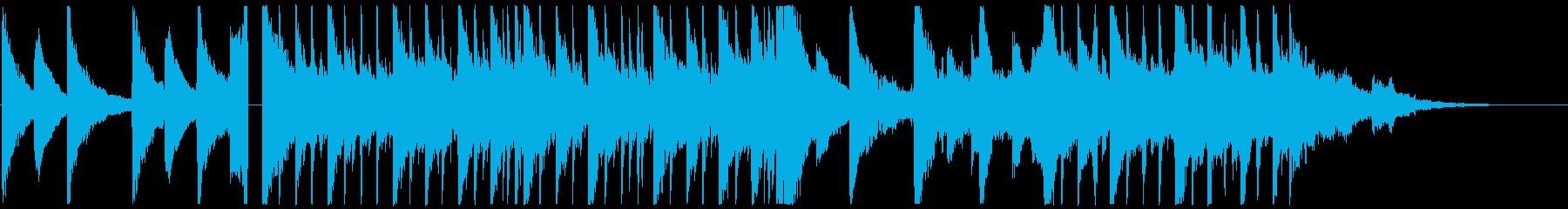 ピアノメインの優しいスローエレクトロニカの再生済みの波形