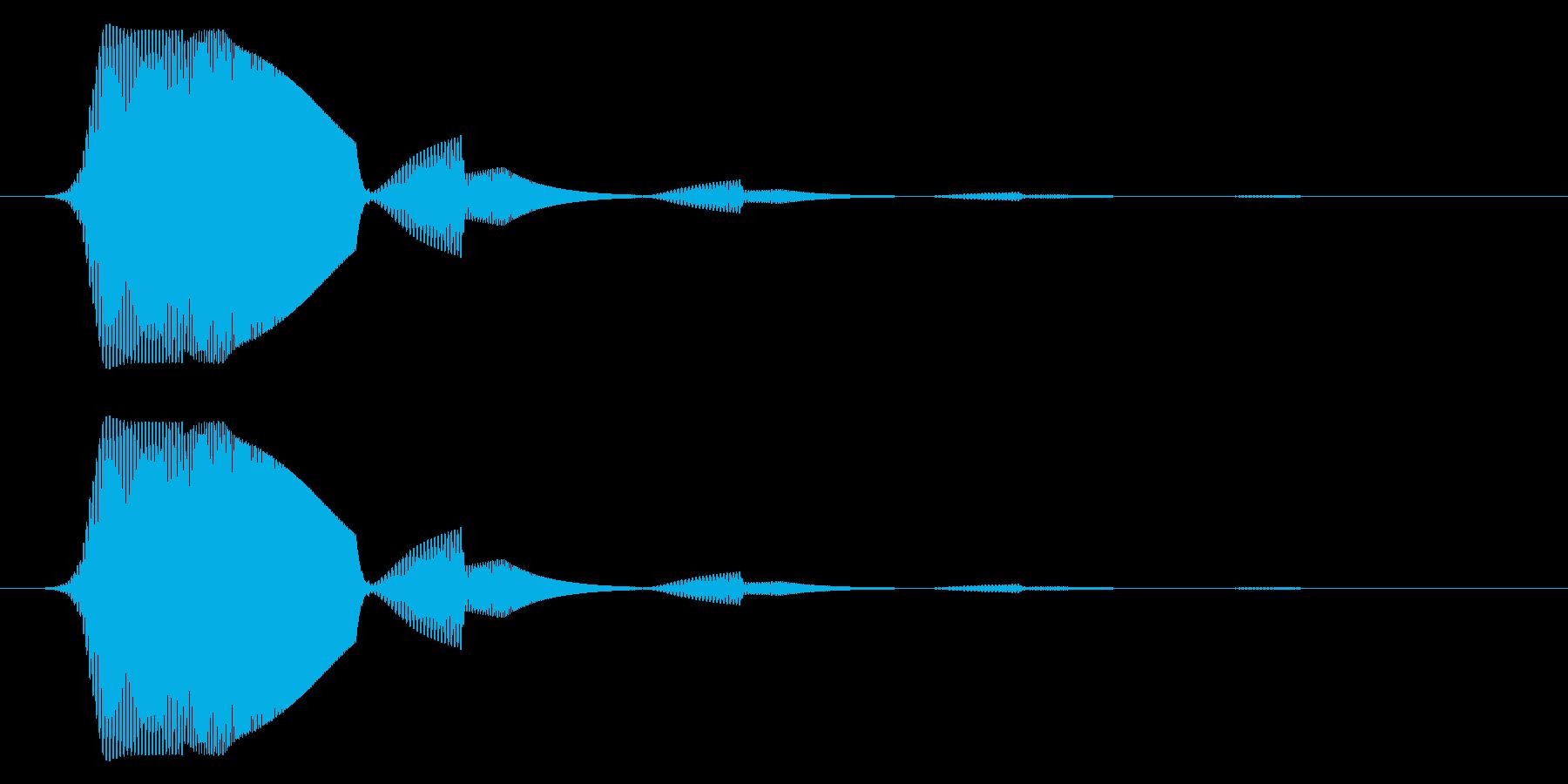 決定等のイメージのシステム効果音です。の再生済みの波形