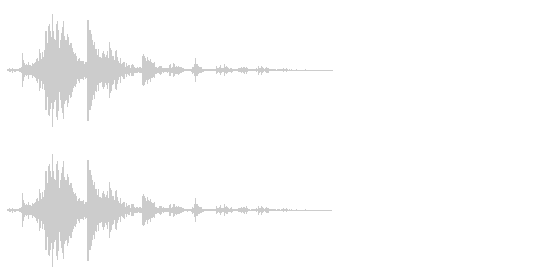 音侍SE「シャラーン!」象徴的な鈴の音の未再生の波形