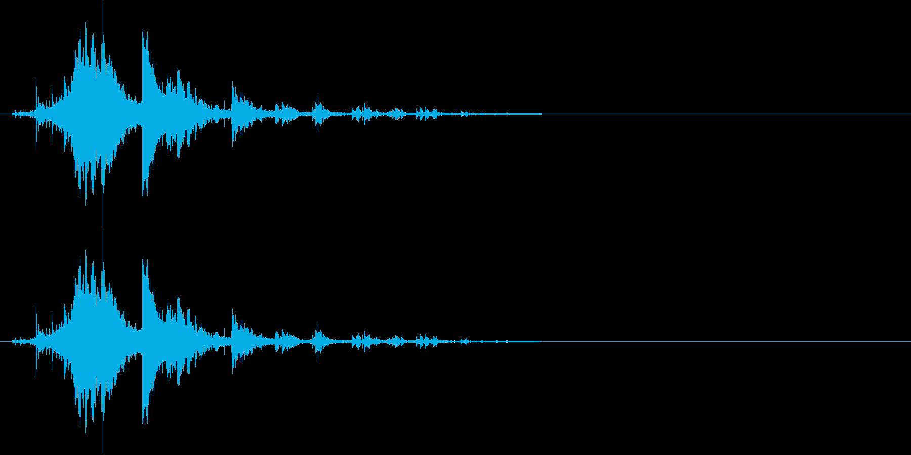 音侍SE「シャラーン!」象徴的な鈴の音の再生済みの波形