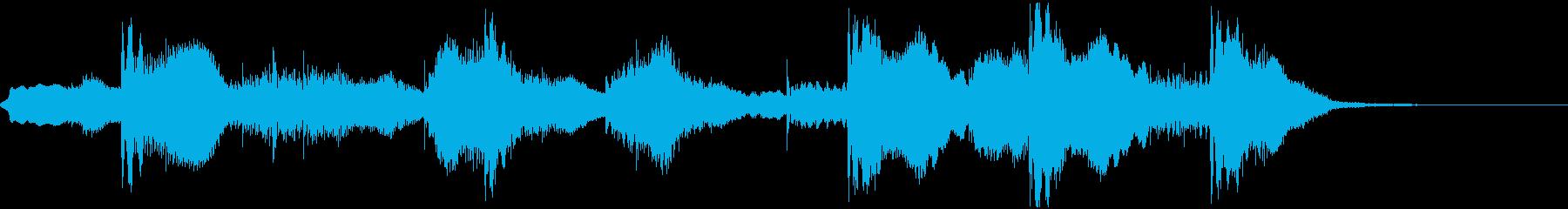 和風のコミカルなジングルの再生済みの波形