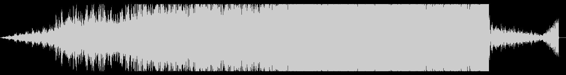 デジタルなホラーアンビエントの未再生の波形