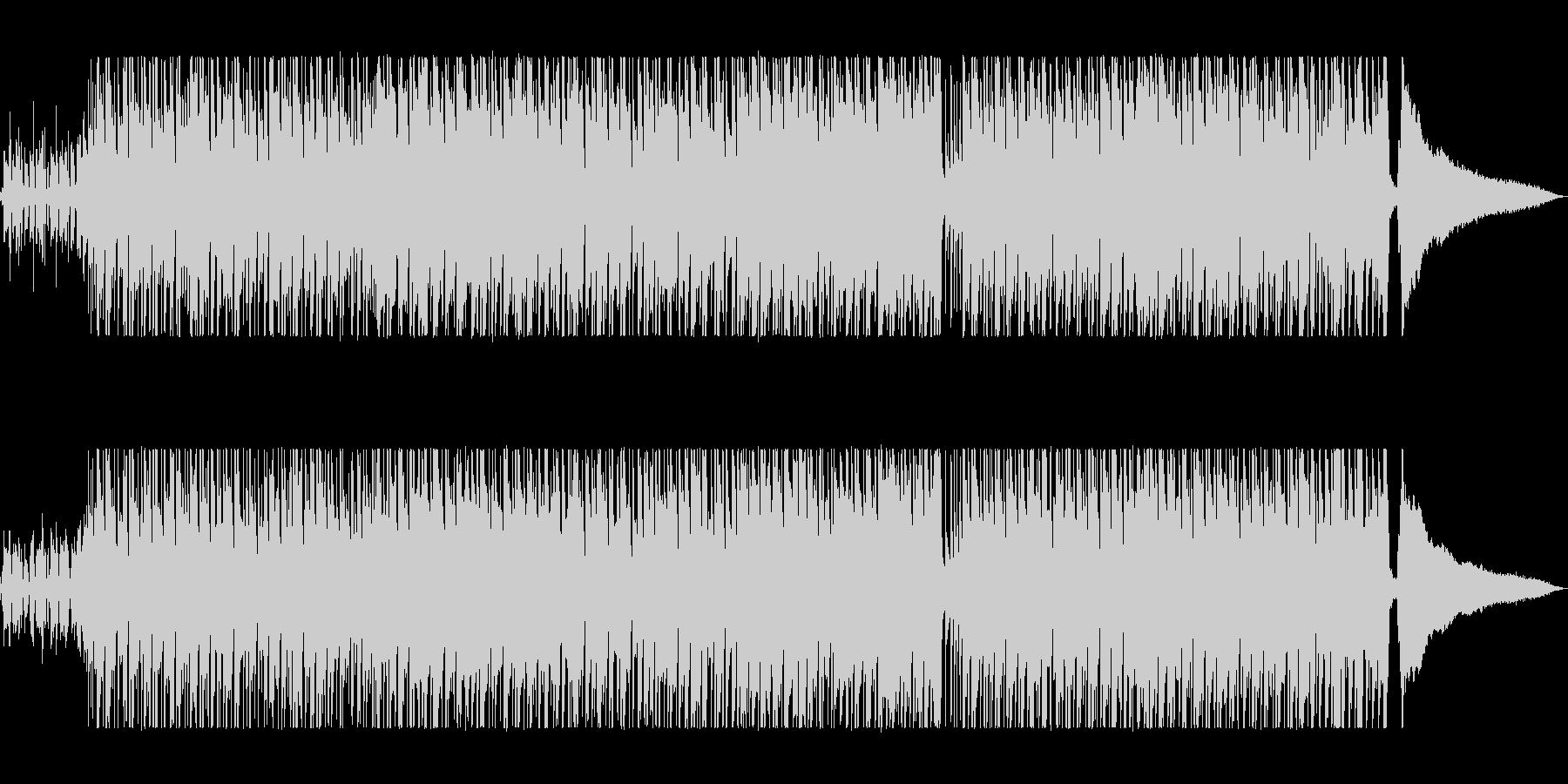 軽快で明るいシンセポップサウンドの未再生の波形