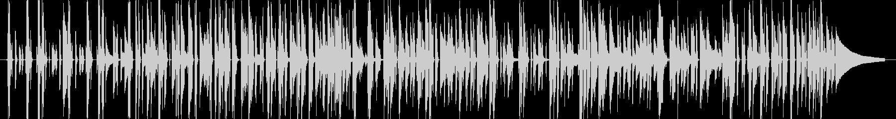 かっちりタイトに決めるベース&ピアノの未再生の波形