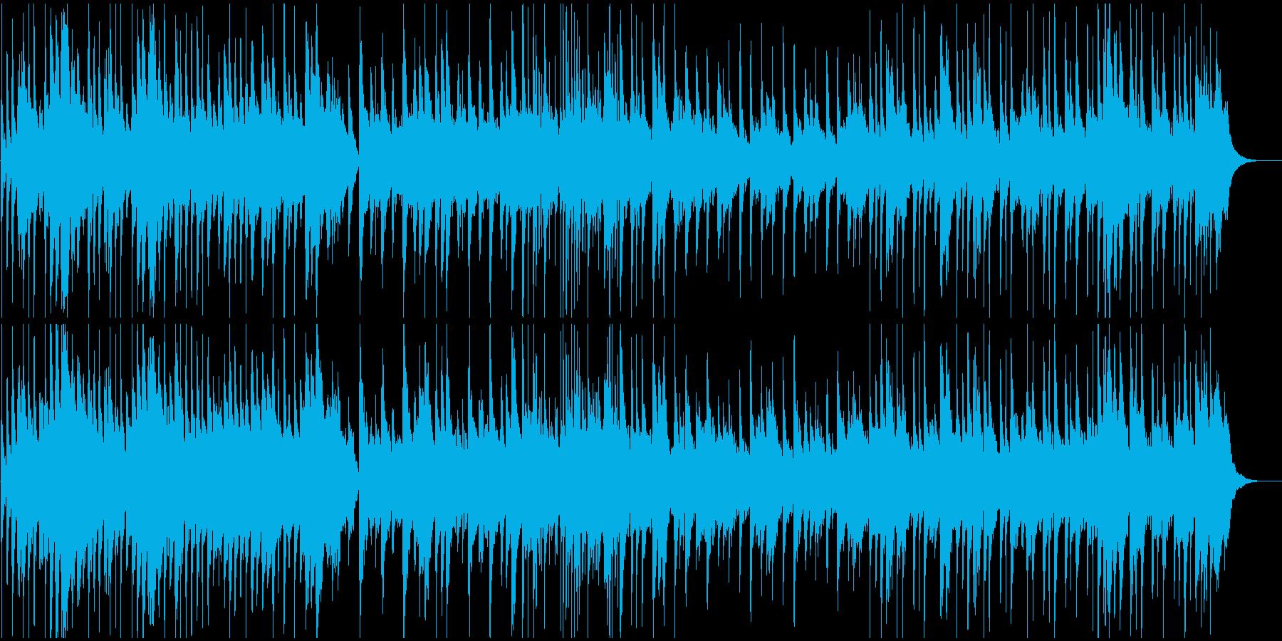 琴がメインの穏やかな和風の曲の再生済みの波形