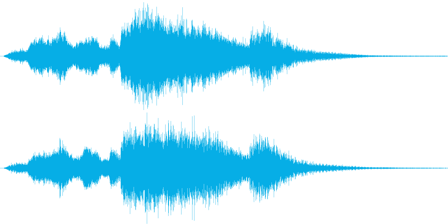 ゲームクリアに使える勝利のファンファーレの再生済みの波形