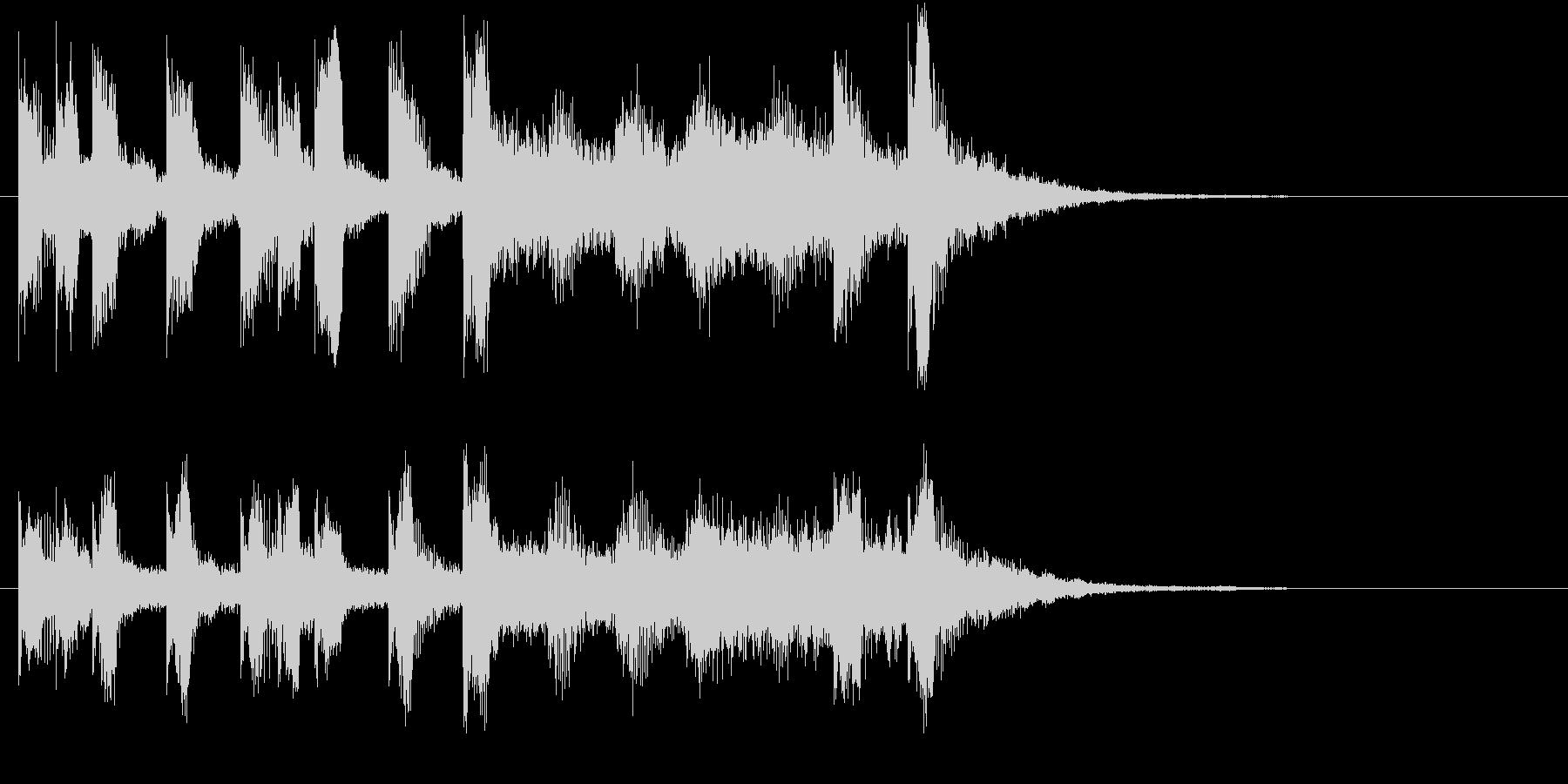 メリーゴーラウンド風ワルツロゴ♪の未再生の波形