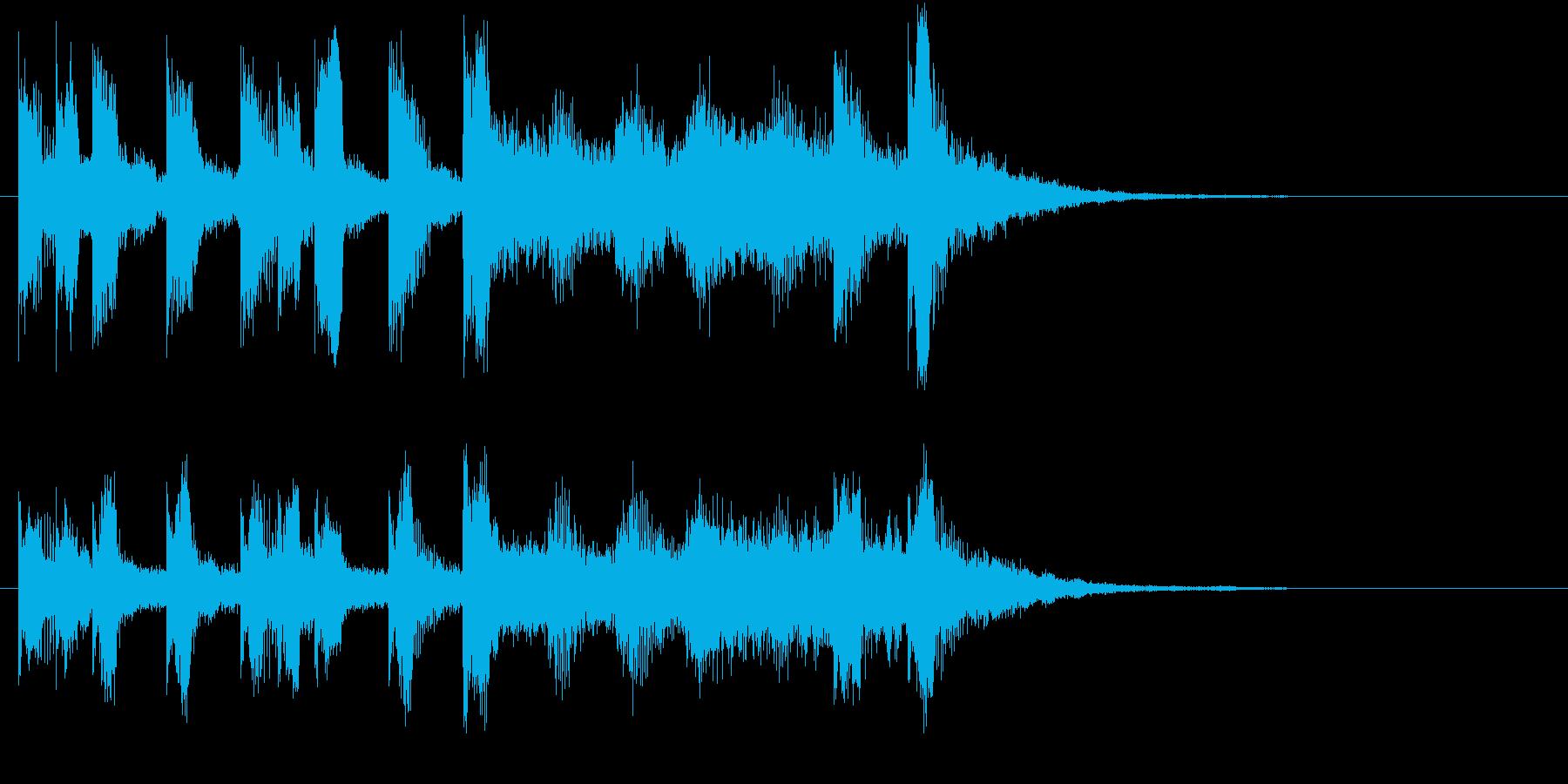 メリーゴーラウンド風ワルツロゴ♪の再生済みの波形