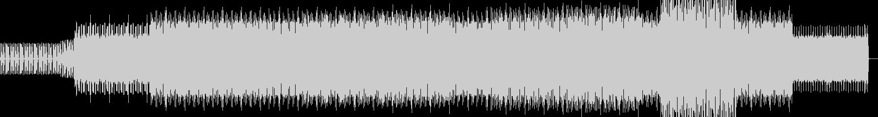淡々としたハウス系BGMの未再生の波形
