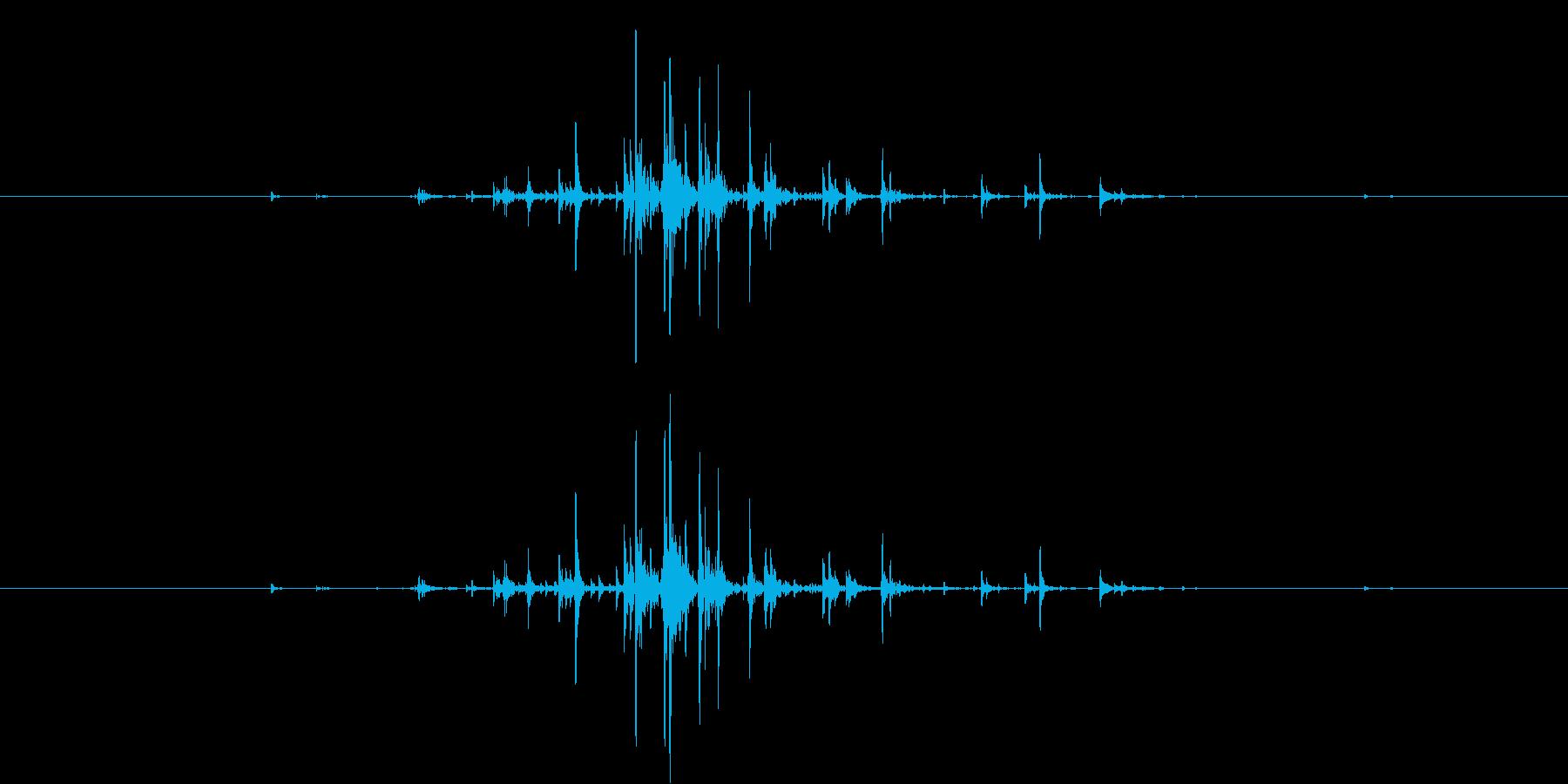 カラン(チャフチャスを一度振る音)の再生済みの波形