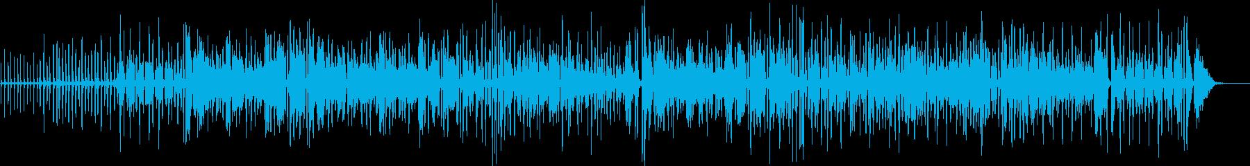 陽気で明るい生演奏アコーディオンのBGMの再生済みの波形