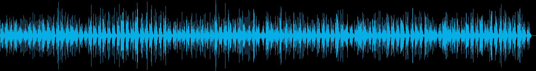 リラックス出来そうなゆったりとしピアノ曲の再生済みの波形