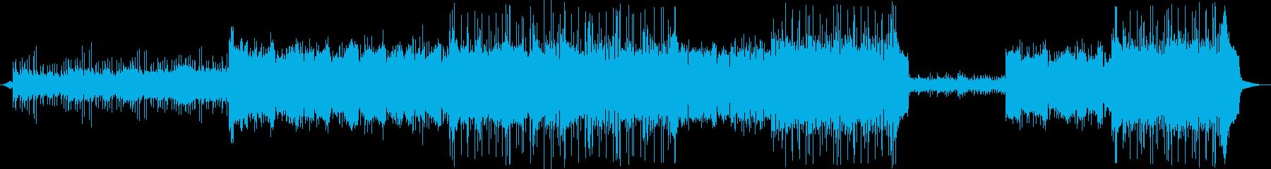 ゆったりとしたポップス曲の再生済みの波形