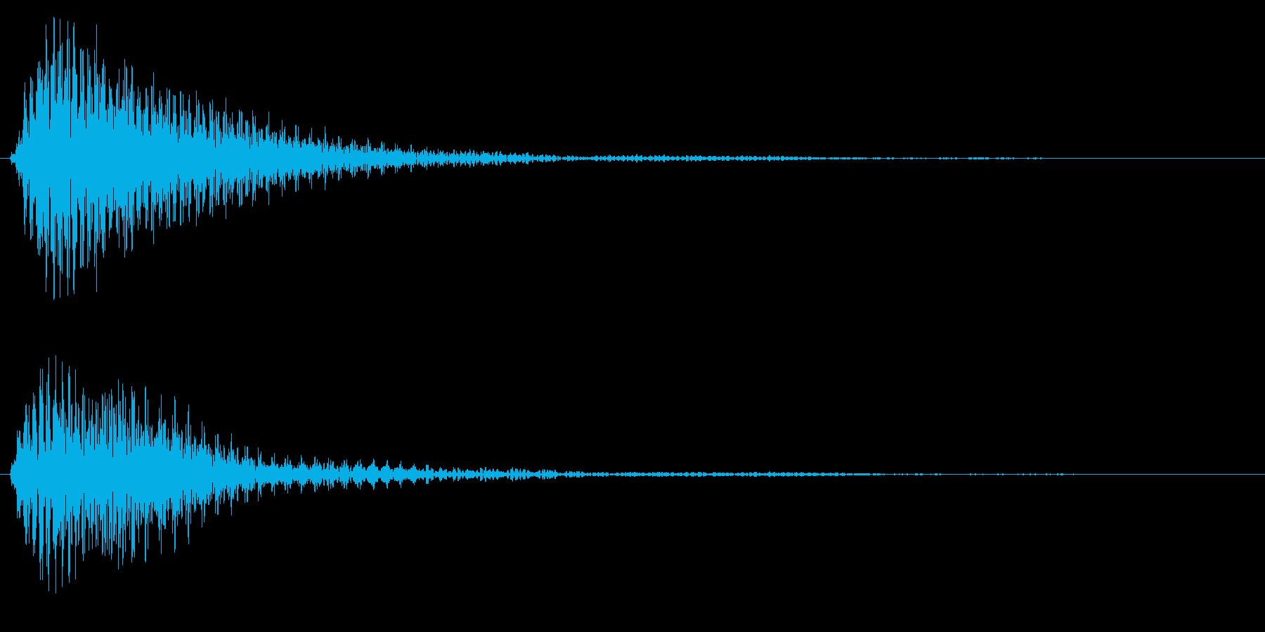 タッチ音/ポン/木琴の再生済みの波形