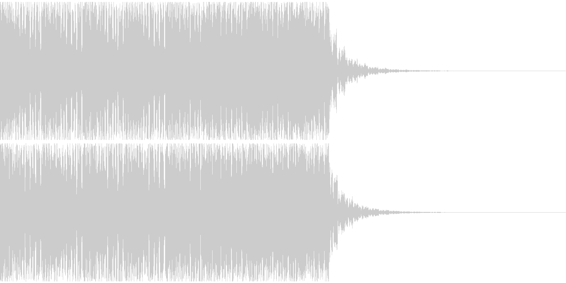 【EDM】20秒、ジングル4の未再生の波形