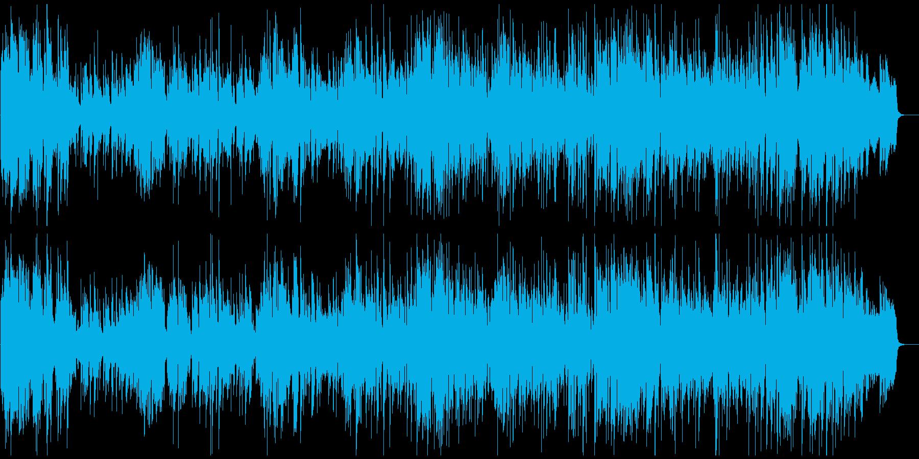 サックス、オルガン、ドラムのジャズトリオの再生済みの波形