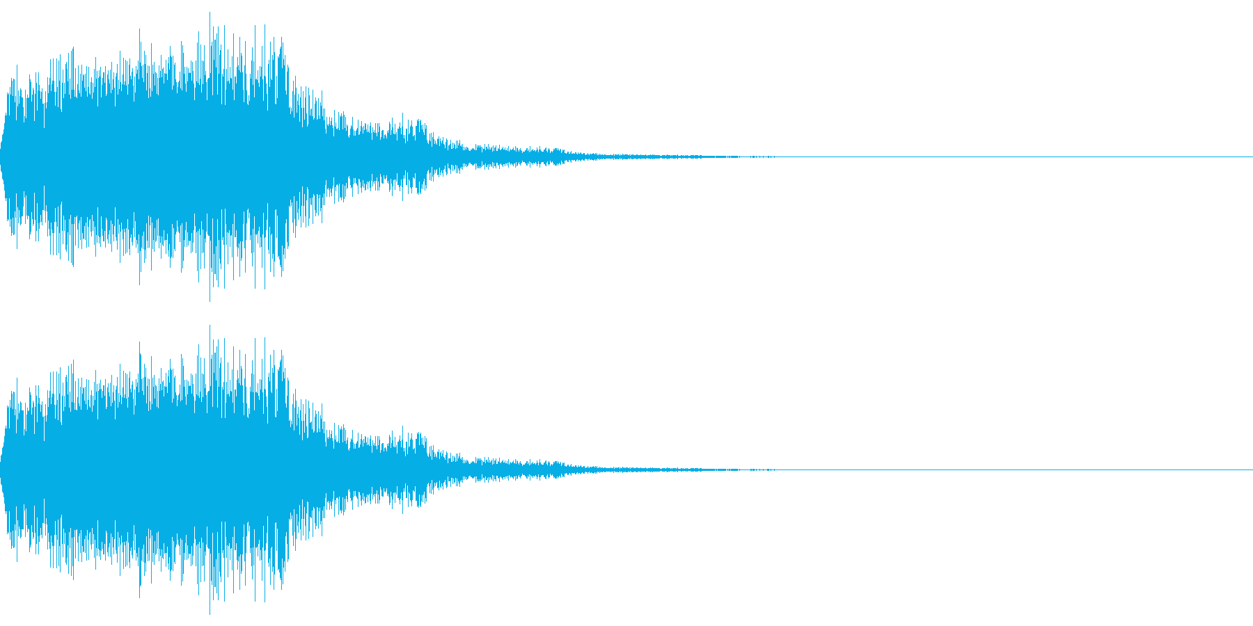 アニメにありそうなエネルギー弾の再生済みの波形
