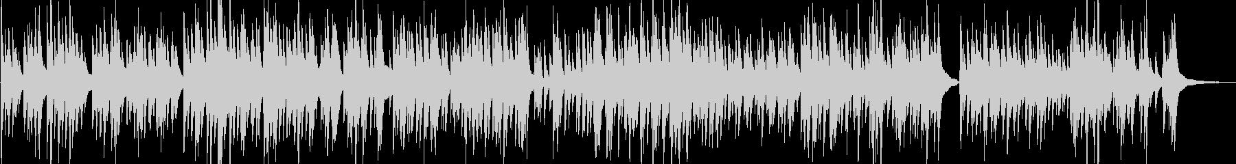 カフェ・街歩き アナログなおしゃれピアノの未再生の波形