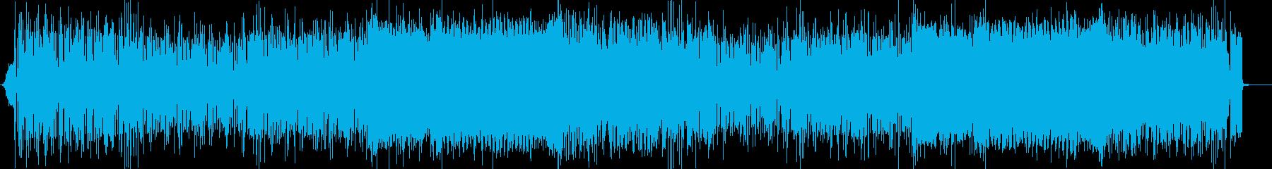 ノリノリだけど知的でミステリアスなBGMの再生済みの波形