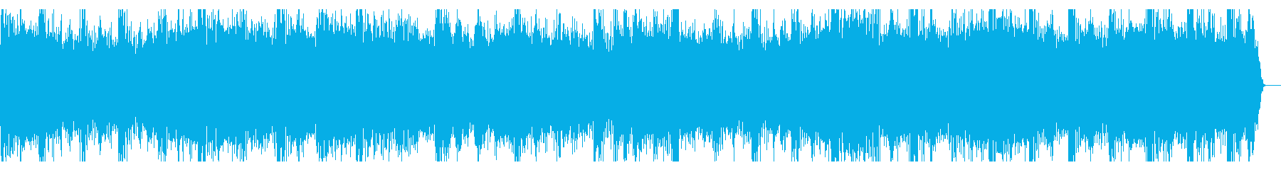 明るい曲調のジングル(14秒)の再生済みの波形