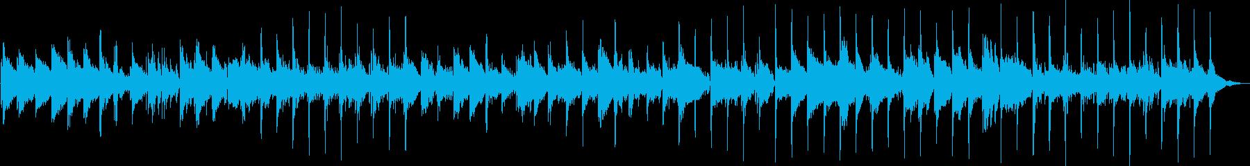旅番組などに、アコースティックBGMの再生済みの波形