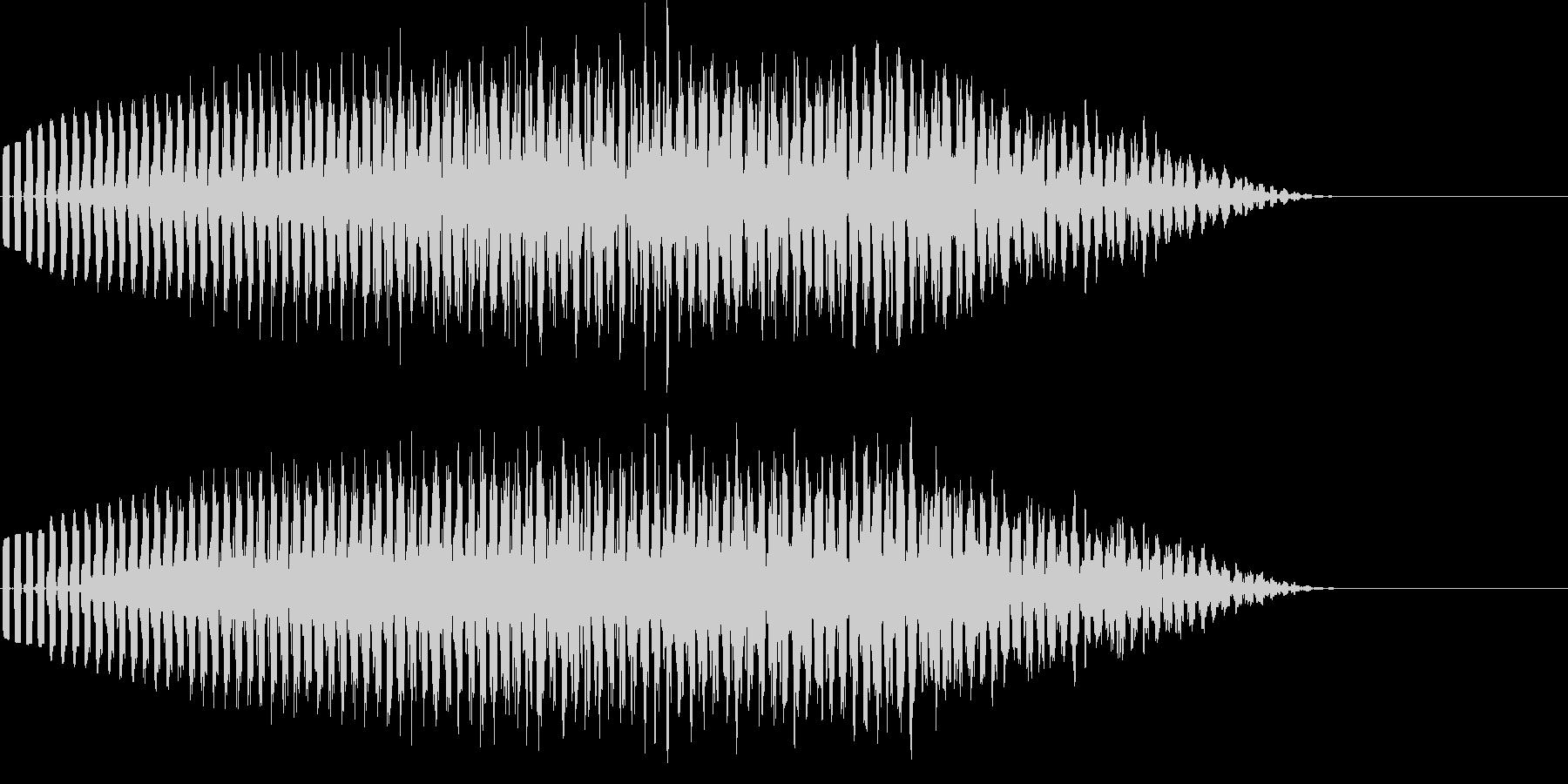 宇宙船が飛び去るような高音の電子音の未再生の波形