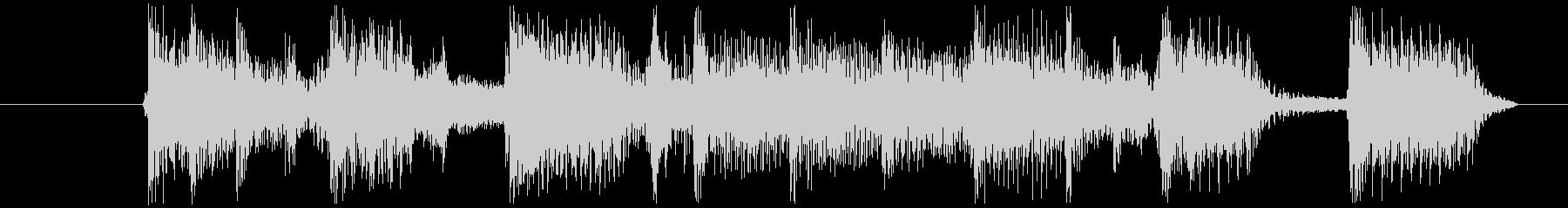 ワイルドなブルージーロックBGM 4秒の未再生の波形