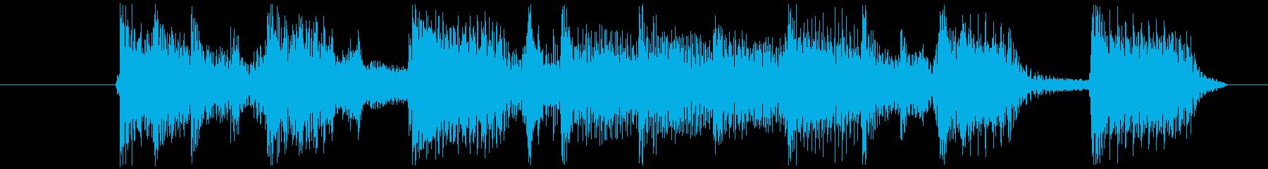 ワイルドなブルージーロックBGM 4秒の再生済みの波形