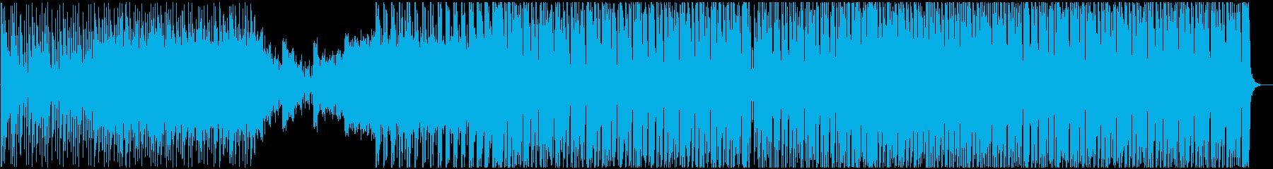 壮大で綺麗めなドラムンベースBGMの再生済みの波形