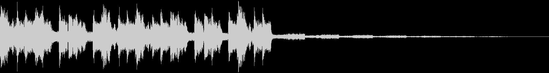 エネルギッシュアグレッシブEDMジングルの未再生の波形