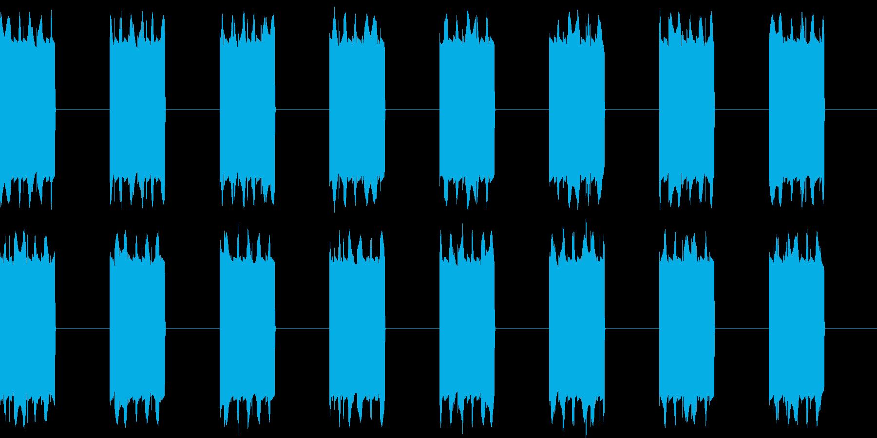 ピピピ...。携帯電話の着信音D(長め)の再生済みの波形