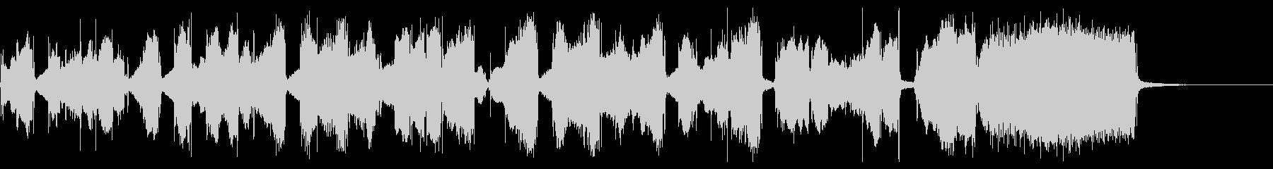 昭和初期の白黒映像をイメージした歌謡曲の未再生の波形
