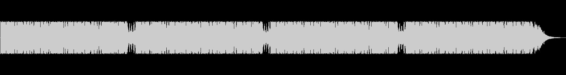 無機質なSF風BGMの未再生の波形