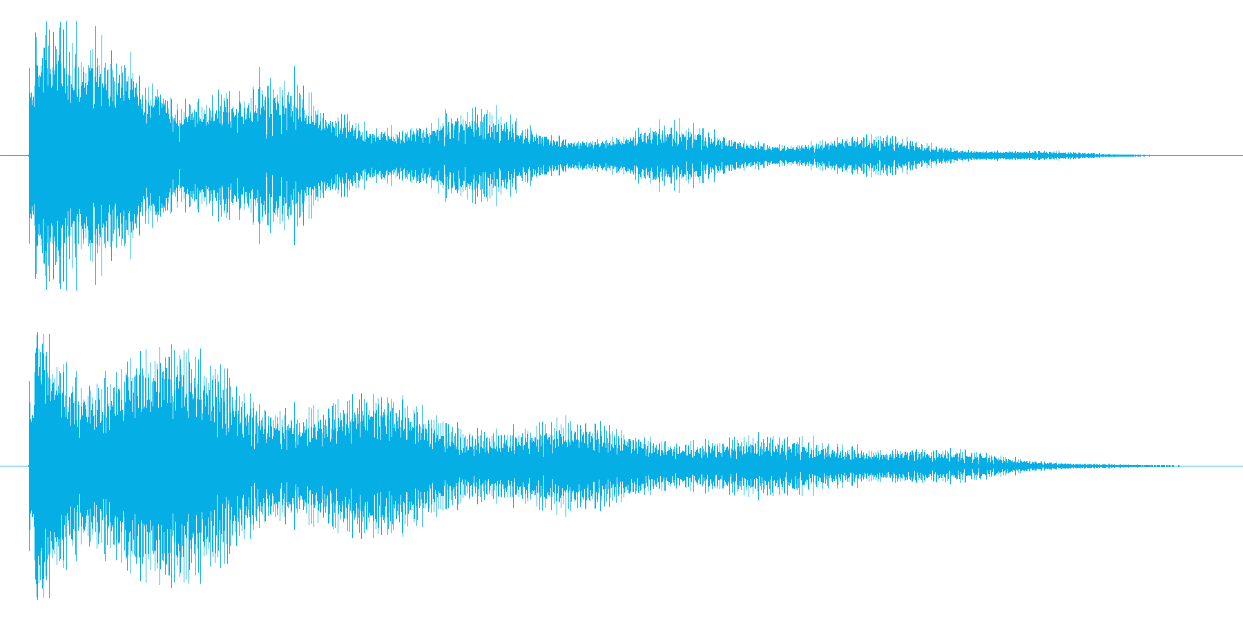 ティーーンの再生済みの波形