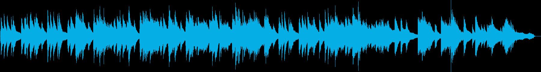 ほのぼのとしたピアノソロの再生済みの波形