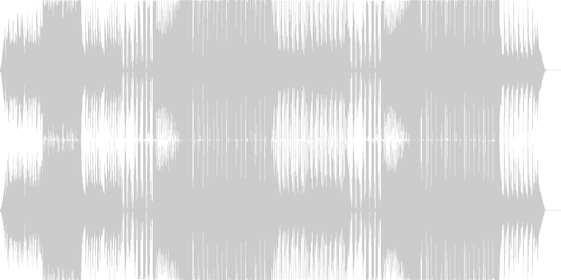 お洒落・カワイイEDM、CMやPVなどにの未再生の波形